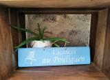 Boutique en ligne - pancarte vacances Le Pouliguen bleu clair - Office de Tourisme La Baule Presqu'île de Guérande