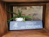 Boutique en ligne - pancarte vacances Le Pouliguen gris foncé - Office de Tourisme La Baule Presqu'île de Guérande