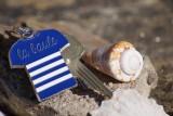 Boutique en ligne - Porte-clés marinière bleue la Baule - Office de tourisme la Baule-Presqu'île de Guérande