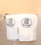 Boutique en ligne - Serviette de toilette blanche cabine La Baule - Office de Tourisme La Baule Presqu'île de Guérande