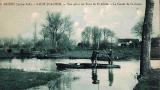 Carte postale ancienne - Hommes en chaland secteur St-Joachim