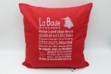 Coussin phrases La Baule 40*40 cm rouge