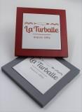 Dessous de plat - 1865 La Turballe rouge et gris