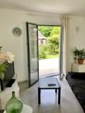 L'Annexe des Olliviers - Mesquer-Quimiac - salon sur terrasse jardin