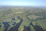 Les îles de Brière vues du ciel