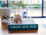 Petite caisse en bois Piriac-sur-mer - bleu canard
