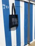 Tote bag Marinière La Baule - Bleu et argent