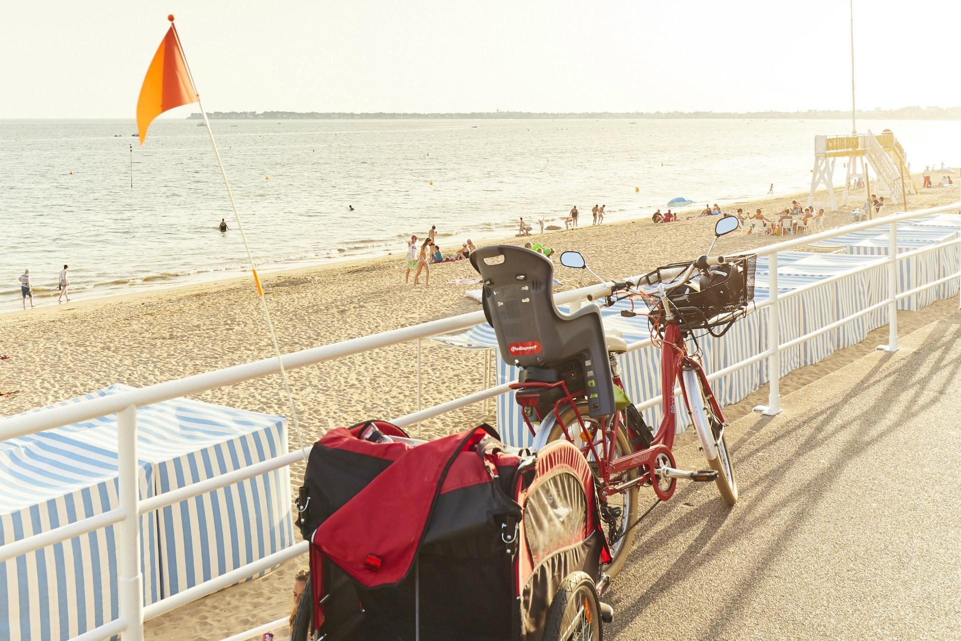 Front de mer de La Baule à vélo