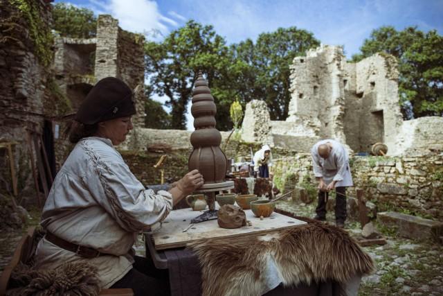 Château de Ranrouët - Herbignac - Animation la construction d'un château fort