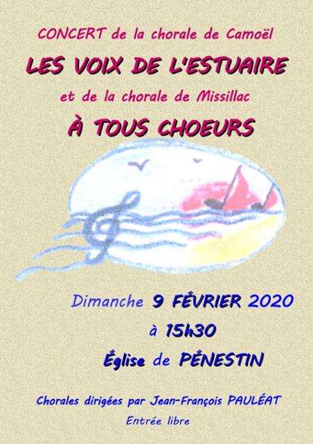 Concert chorale les Voix de l'estuaire et à tous choeurs