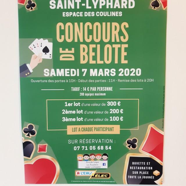 concours de belote amicale laïque st lyphard 2020