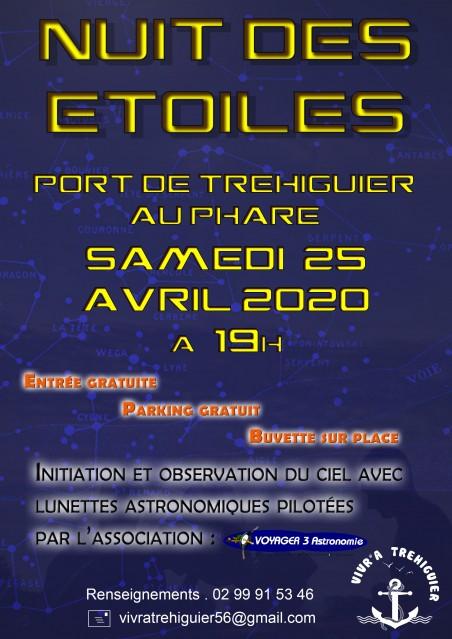 Nuit des étoiles - Phare du port de Tréhiguier