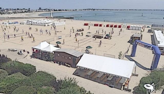 Tournoi de beach-volley plage du Pouliguen