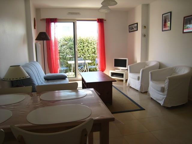 Séjour terrasse appartement de Mme Blandin à La Turballe