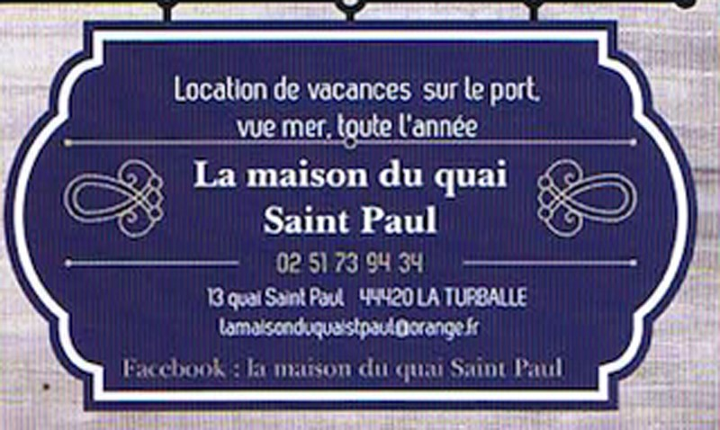 La maison du Quai Saint Paul - location de vacances à La Turballe