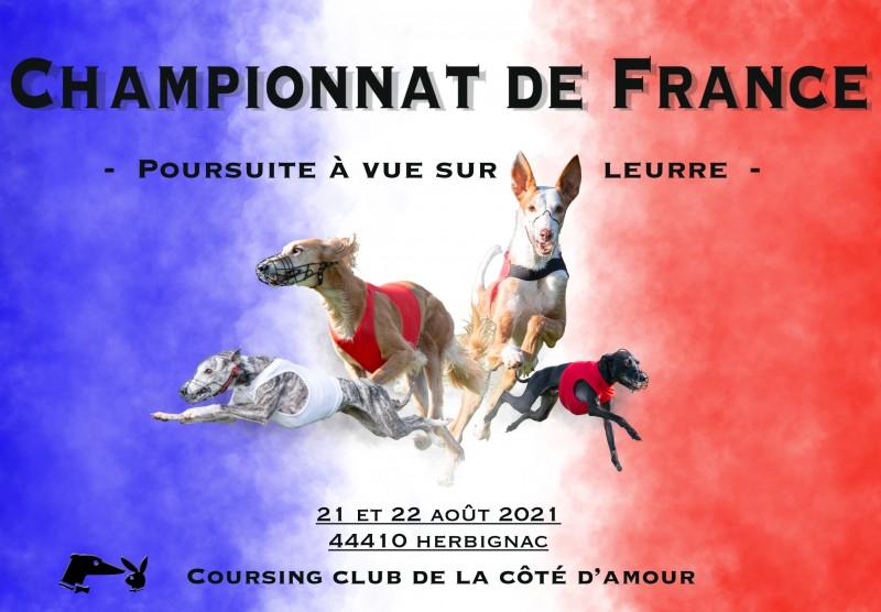 affiche championnat de France de course de lévriers