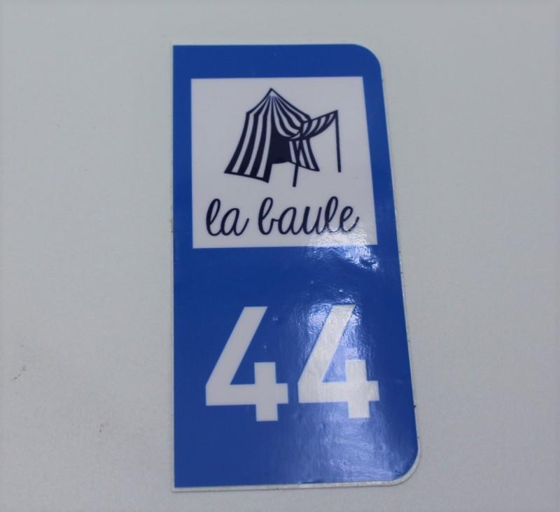 autocollant-plaque-immatriculation-44-bleu la baule