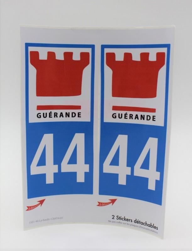 Autocollants plaque d'immatriculation Guérande