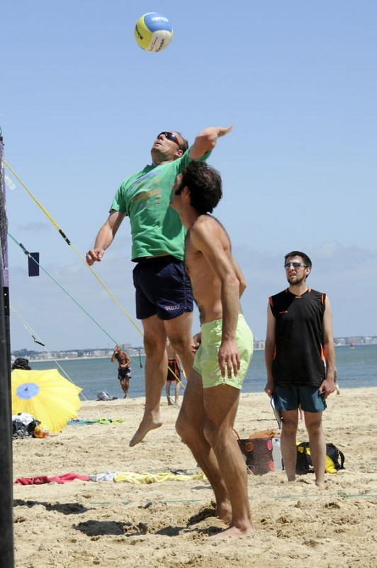 Beach-volley plage du Nau au Pouliguen