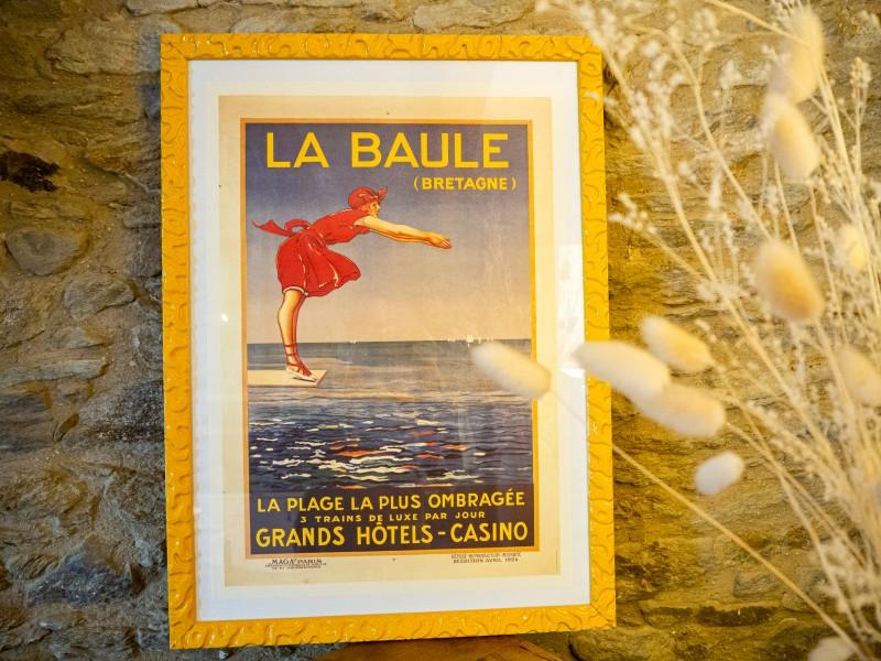 Boutique en ligne -Affiche ancienne - La Baule Plongeuse - Office de tourisme La Baule Presqu'île de guérande