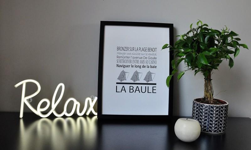 Boutique en ligne - Affiche phrases La Baule - Office de tourisme La Baule Presqu'île de Guérande