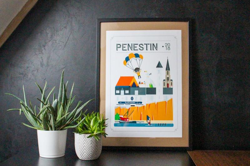Boutique en ligne - Affiche Quatre Vingt Trois - Pénestin - Office de tourisme La Baule Presqu'île de Guérande