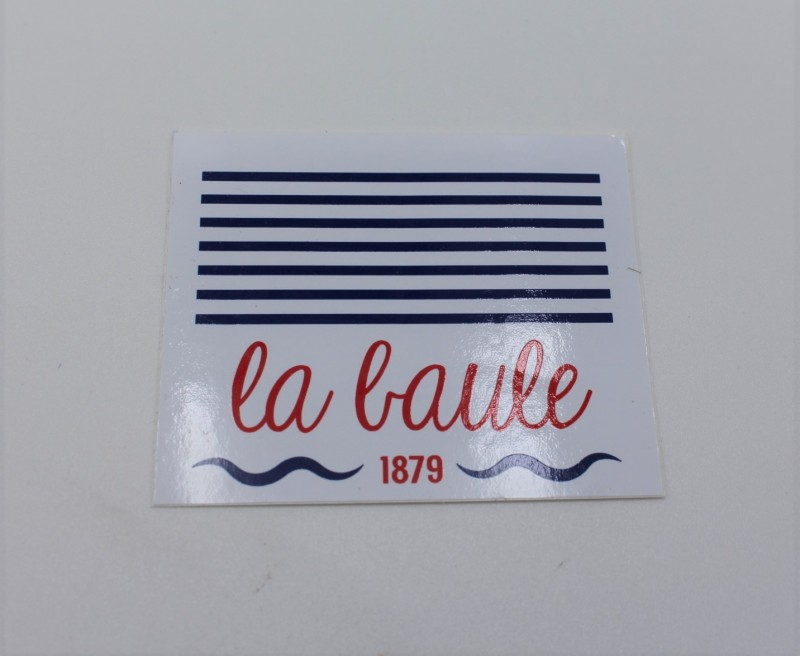 Boutique en ligne - Autocollant Marinière la baule - Office de tourisme La Baule Presqu'île de Guérande