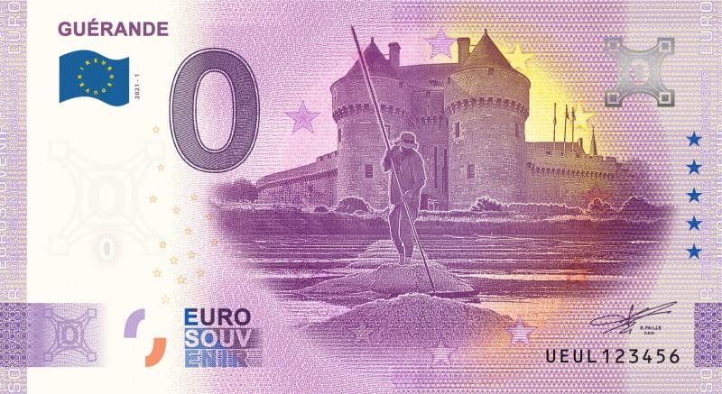 Boutique en ligne - billet souvenir Guérande - Euro banknote Memory - Office de Tourisme La Baule-Presqu'île de Guérande
