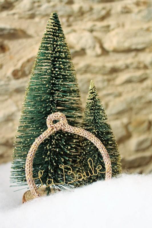 Boutique en ligne - boule de Noël Tricotin- Office de Tourisme La Baule presqu'île de Guérande