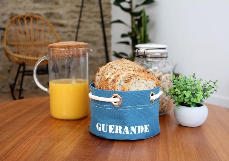 Boutique en ligne - corbeille Guérande bleu canard - Office de Tourisme La Baule Presqu'île de Guérande