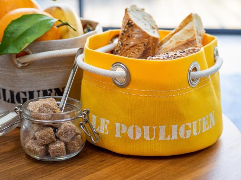 Boutique en ligne - corbeille Le Pouliguen jaune - Office de Tourisme La Baule Presqu'île de Guérande