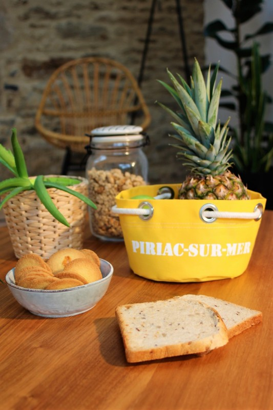 Boutique en ligne - corbeille Piriac-sur-mer jaune - Office de Tourisme La Baule Presqu'île de Guérande