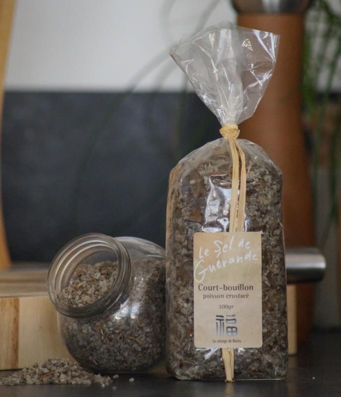 Boutique en ligne - Court bouillon 300 g sel de guerande Salorge de rostu - Office de tourisme La Baule Presqu'île de Guérande
