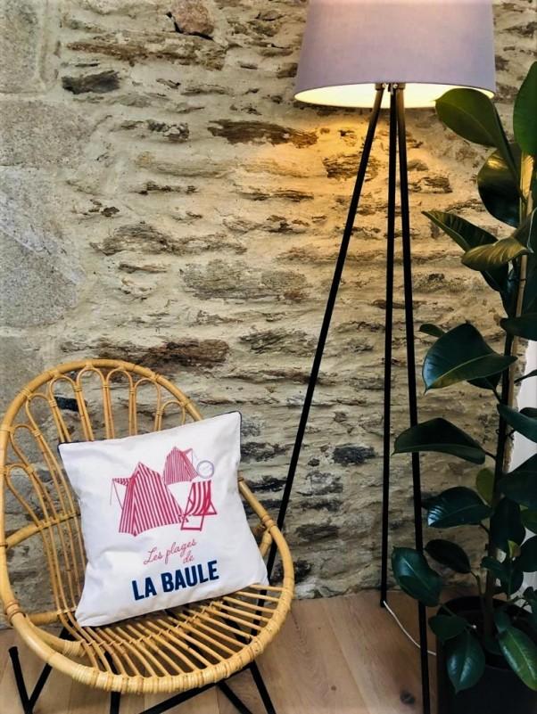 Boutique en ligne - Coussin Cabines rouges La Baule - OTI La Baule Presqu'île de Guérande