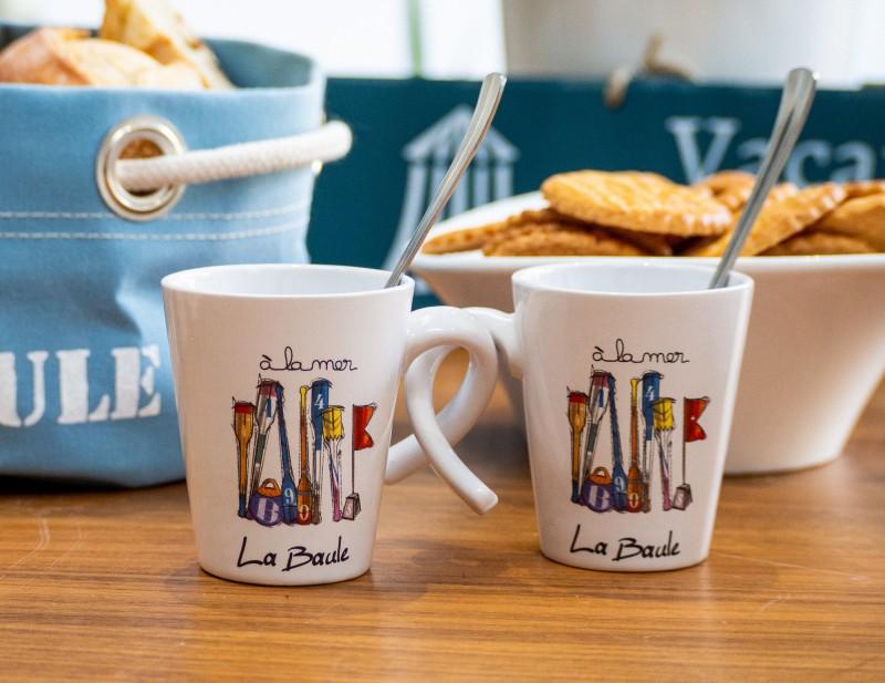 Boutique en ligne - Duo de tasse espresso Rames  La Baule - Office de tourisme La Baule Presqu'île de Guérande
