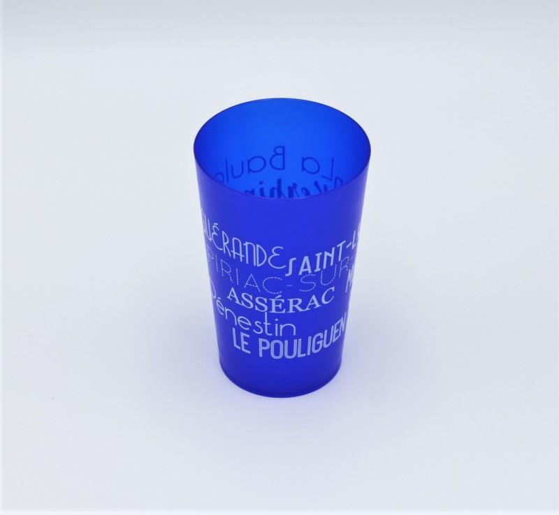 Boutique en ligne - Gobelet Bretagne plein sud - bleu foncé - Office de tourisme La Baule Presqu'île de Guérande