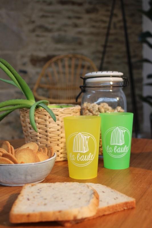 boutique en ligne-Gobelet la baule cabine jaune - Office de tourisme La Baule presqu'ile de Guerande