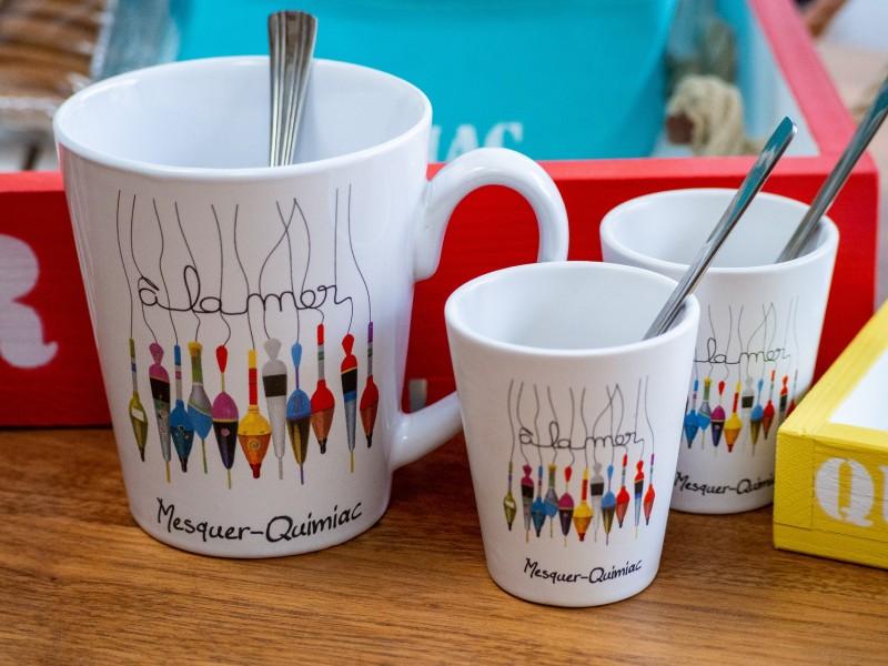 Boutique en ligne - Mug et tasses espresso à la Mer - Mesquer-Quimiac - Office de tourisme La Baule Presqu'île de Guérande