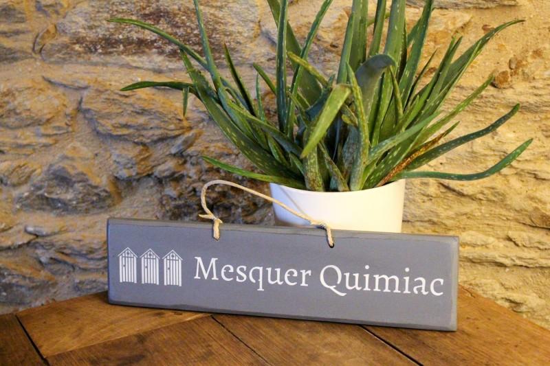 Boutique en ligne - Pancarte en bois cabines Mesquer-Quimiac  gris foncé - Office de Tourisme La Baule presqu'île de Guérande