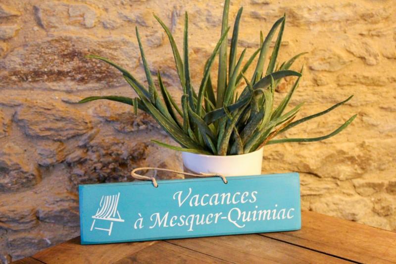 Boutique en ligne - Pancarte en bois vacances à Mesquer-Quimiac Turquoise - Office de Tourisme La Baule presqu'île de Guérande
