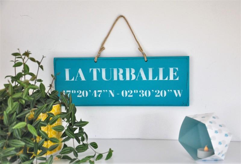 Boutique en ligne - pancarte La Turballe Latitude turquoise - Office de Tourisme La Baule Presqu'île de Guérande