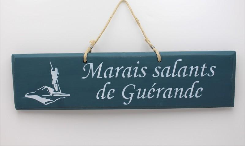Boutique en ligne -Pancarte Marais Salants de Guérande - bleu canard - Office de tourisme La Baule Presqu'île de Guérande
