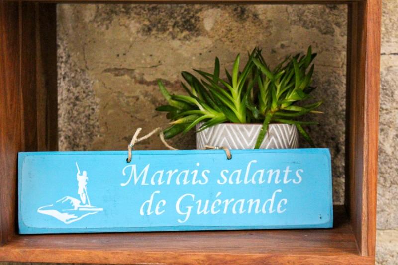 Boutique en ligne - Pancarte Marais Salants de Guérande - bleu turquoise - Office de tourisme La Baule Presqu'île de Guérande
