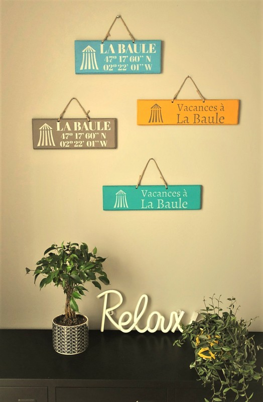 Boutique en ligne - Pancartes en bois La Baule- Office de Tourisme La Baule presqu'île de Guérande