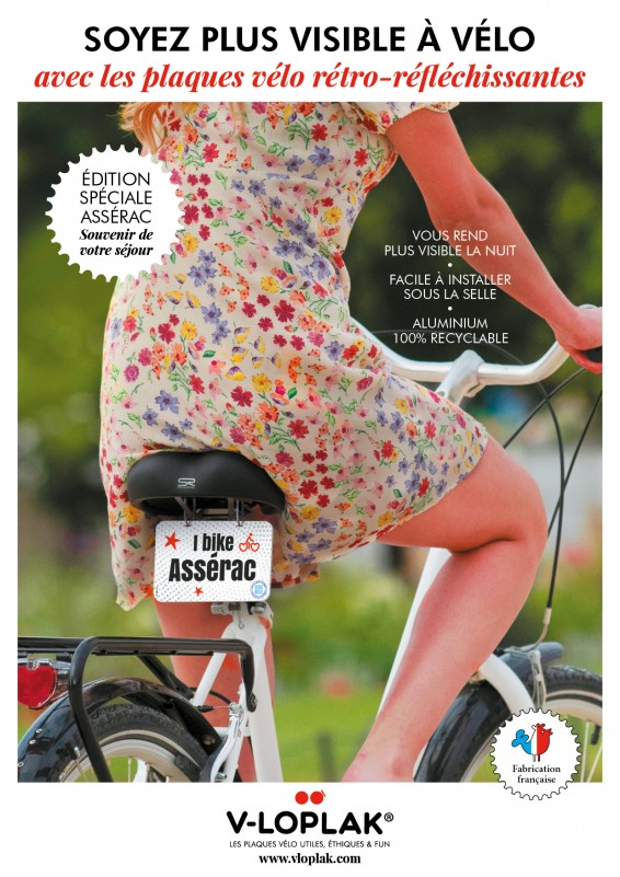 Boutique en ligne - Plaque vélo Assérac - Office de tourisme la Baule-Presqu'île de Guérande