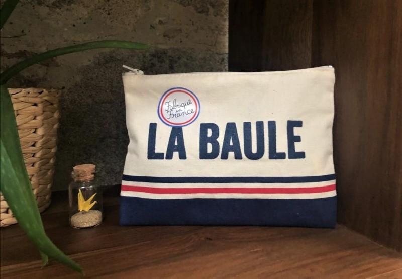 Boutique en ligne - Pochette Rayures La Baule - OTI La Baule Presqu'île de Guérande