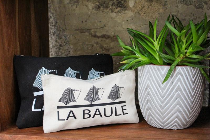 Boutique en ligne - Pochette zippée en coton  La Baule - Office de tourisme La Baule Presqu'île de Guérande
