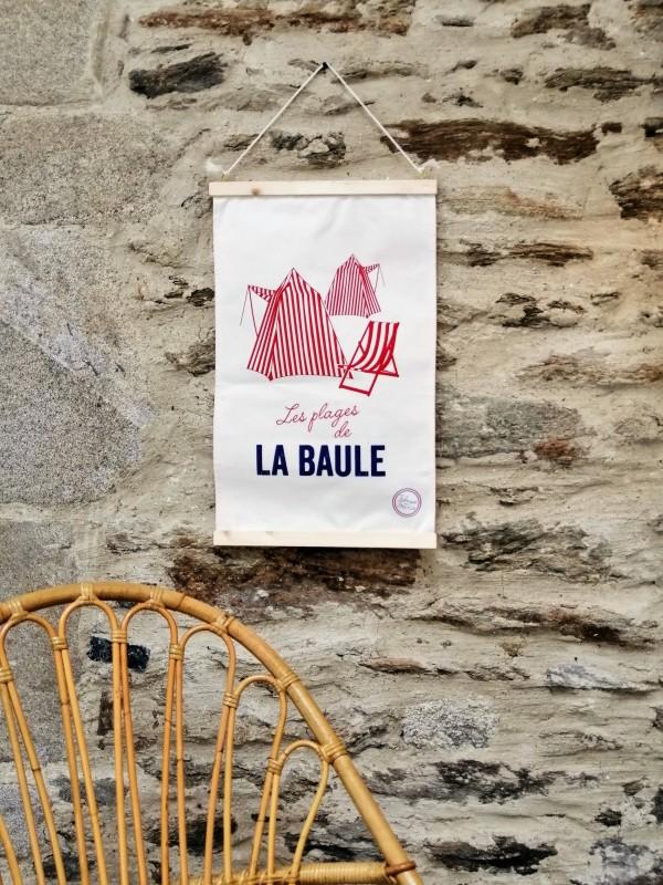 Boutique en ligne - toile murale La Baule cabines - Office de Tourisme La Baule Presqu'île de Guérande