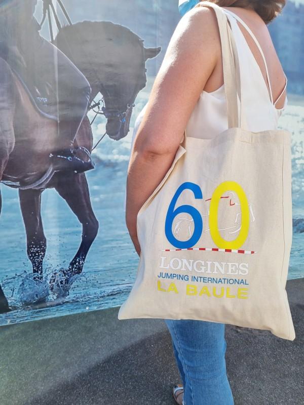 Boutique en ligne - Tote bag 60 ans Jumping International La Baule - Office de Tourisme La Baule-Presqu'île de Guérande