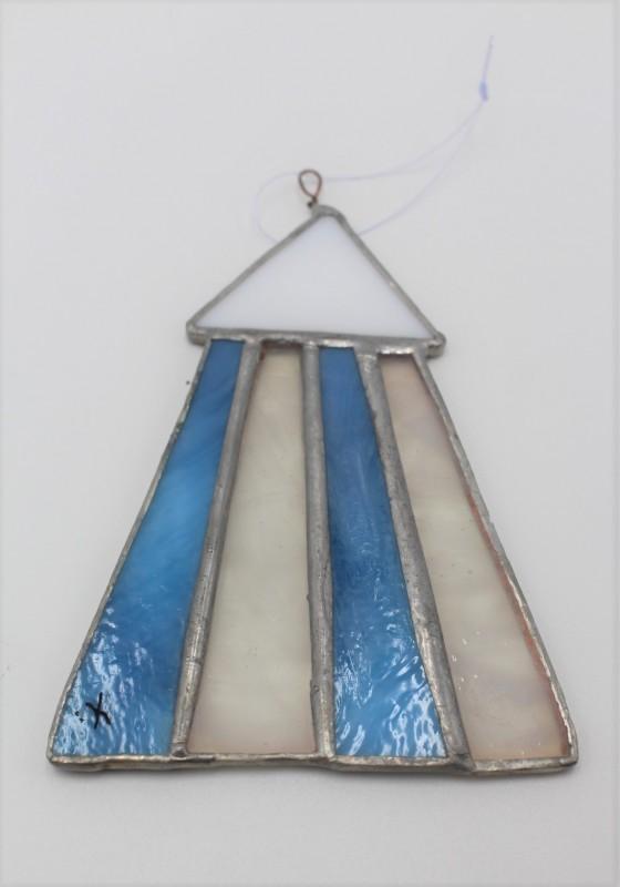 Cabine vitrail bleu clair